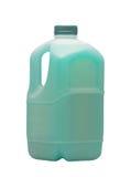 汽车的蓝色液体在罐 免版税库存照片