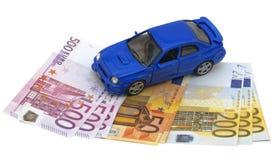 汽车的设计在货币的 库存图片