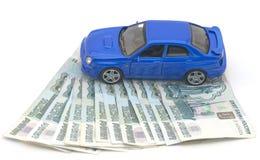 汽车的设计在货币的 库存照片