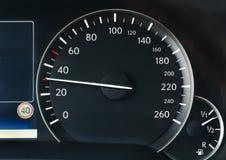 汽车的车速表 免版税图库摄影