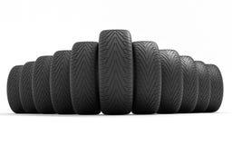 汽车的轮胎 有lcd屏幕的概念design.futuristic注射器 3d例证回报 图库摄影