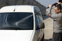 汽车的洗涤物 免版税库存图片
