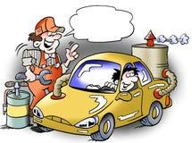 汽车的代用燃料引擎 免版税库存照片