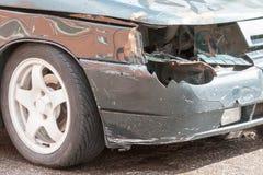 汽车的细节事故 库存图片