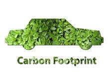 汽车碳脚印 免版税库存照片