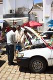 汽车祝福在科帕卡巴纳,玻利维亚 库存照片