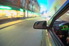 汽车移动 免版税库存图片