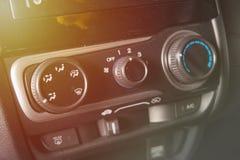 汽车空气情况与尘土的控制板 免版税库存照片