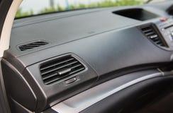 汽车空调特写镜头  免版税库存照片