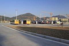 汽车站的建筑 图库摄影