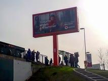 汽车站等待的公共汽车伊斯坦布尔 免版税图库摄影