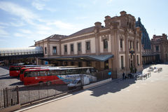 汽车站Barcelon Nord 库存图片