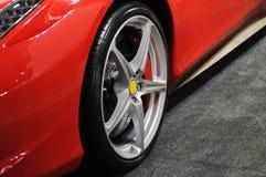 汽车红色体育运动轮子 免版税图库摄影