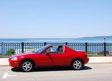 汽车红色体育运动 免版税图库摄影