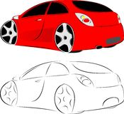 汽车红色 免版税图库摄影