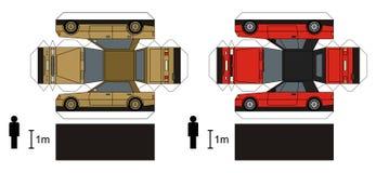 汽车纸模型  免版税库存图片