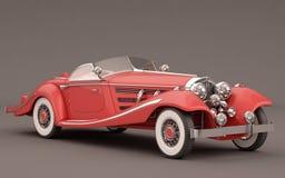 汽车经典典雅的红色 免版税库存照片