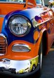 汽车经典旧车改装的高速马力汽车葡&# 免版税库存照片