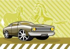 汽车经典肌肉野马 库存照片