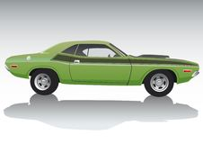 汽车绿色体育运动 免版税库存图片