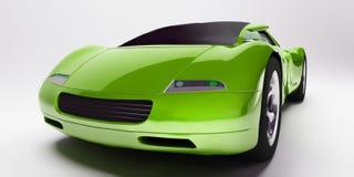汽车绿色体育运动 免版税库存照片