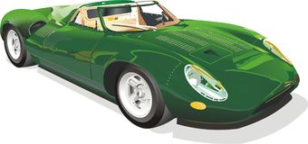 汽车绿色体育运动 免版税图库摄影