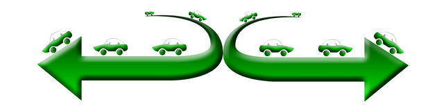 汽车绿色徽标 免版税库存照片