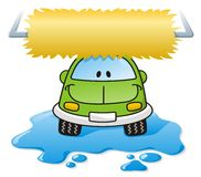 汽车绿色洗涤 免版税库存图片