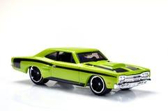 汽车绿色玩具 免版税库存图片