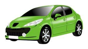 汽车绿色 库存例证