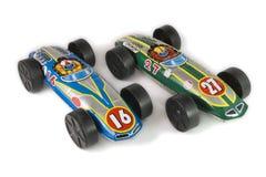 汽车罐子玩具 图库摄影