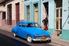 汽车老古巴 库存照片