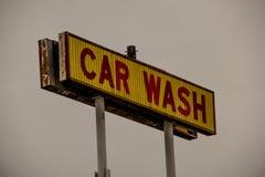 汽车老符号洗涤 免版税库存图片