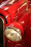 汽车老红色时间 免版税库存照片