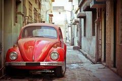 汽车老红色 免版税库存图片
