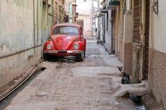 汽车老红色 免版税图库摄影