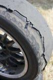 汽车老轮子 库存图片