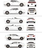 汽车肌肉概述模板 免版税图库摄影