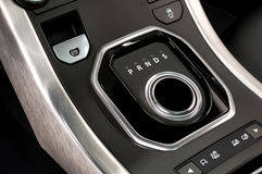 汽车自动传输和停车制动按钮 库存图片