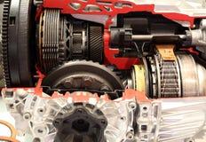 汽车自动变速杆细节 库存图片