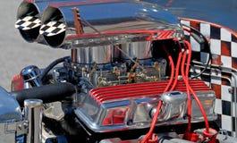 汽车自定义引擎旧车改装的高速马力&# 免版税库存照片