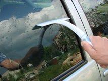汽车色的银洗涤 图库摄影