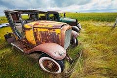 汽车葡萄酒 库存图片