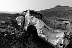 汽车被毁坏的老 免版税库存照片