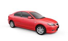 汽车裁减路线红色w 免版税库存照片