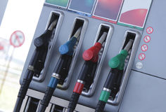 汽车装载的燃料加油站 库存照片