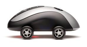 汽车计算机鼠标炫耀技术 库存照片