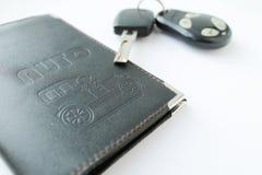 汽车许可证和钥匙 免版税库存照片