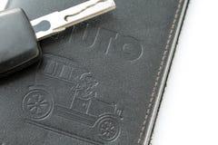 汽车许可证和钥匙 库存照片