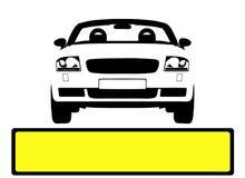 汽车许可证牌照 库存图片